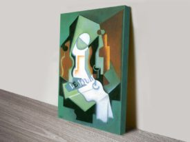 Bottle and Fruit Bowl Juan Gris Cubism Abstract Ready to Hang Art