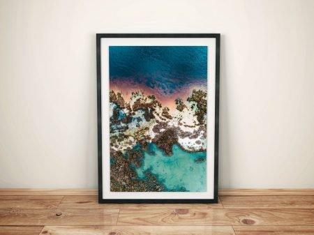 Boundary Island Mandurah Aerial Photo Framed Prints
