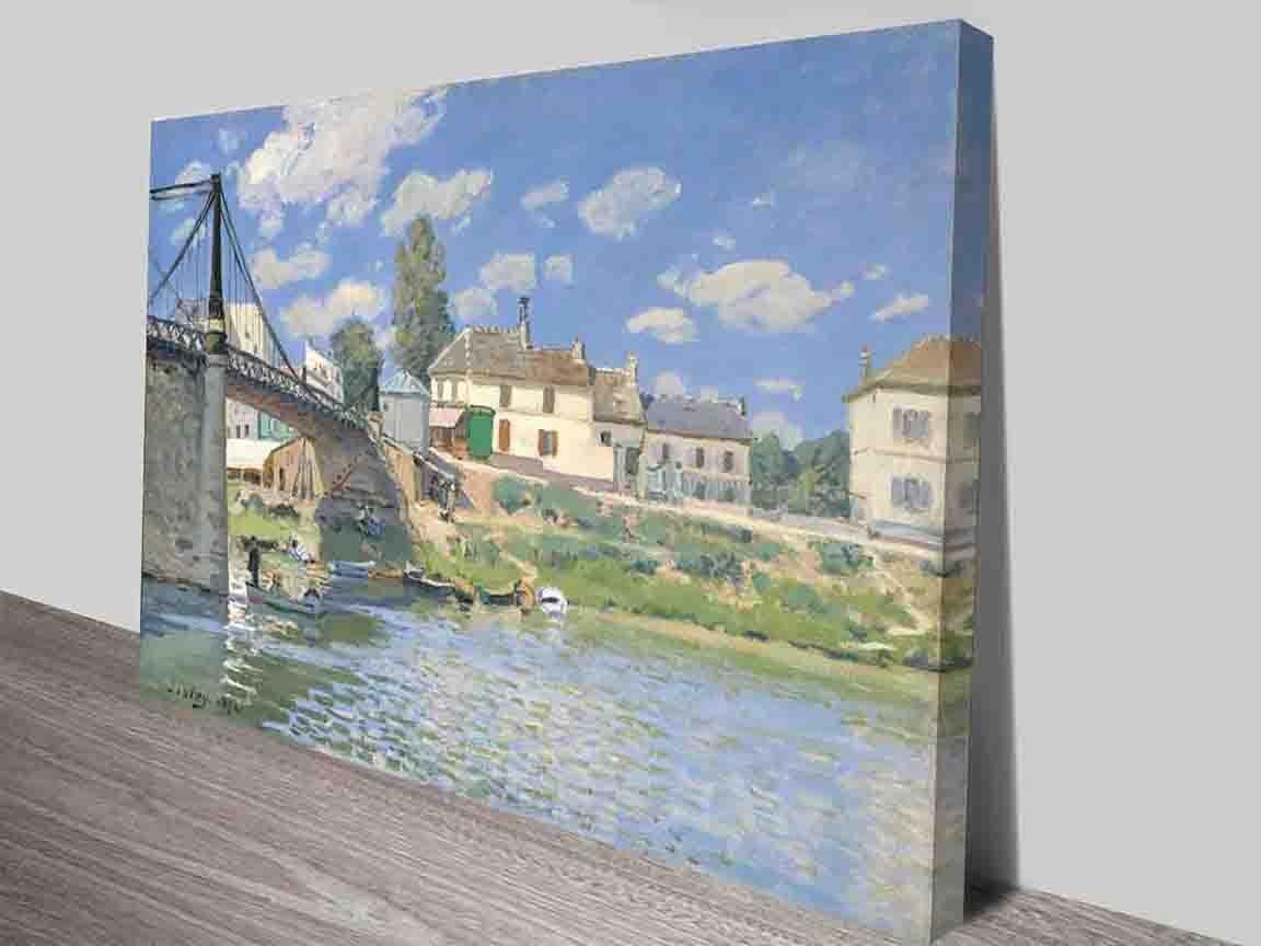 Bridge at Villeneuve Alfred Sisley Wall Art
