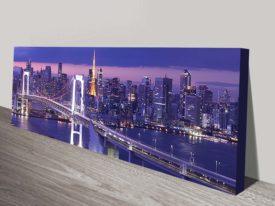 Tokyo Rainbow Bridge Panoramic Canvas Art