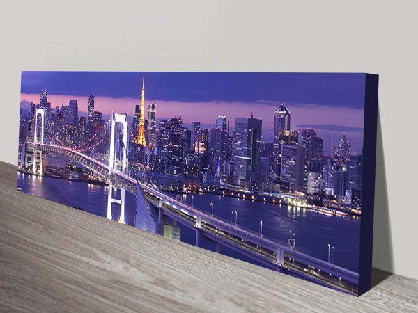 Buy Tokyo Cityscape Panoramic Art Cheap AU