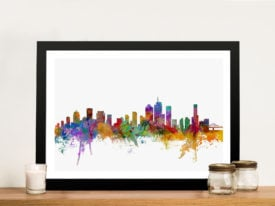Brisbane Australia Skyline Framed Wall Art