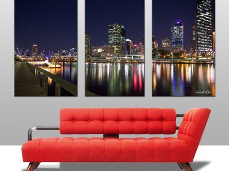 Brisbane Triptych Wall Art