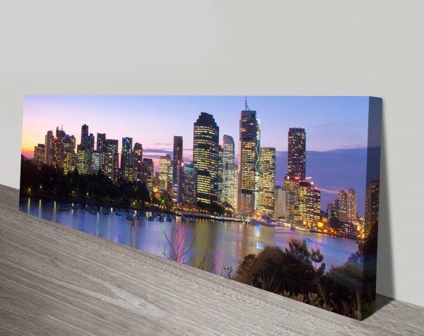 Brisbane skyline panoramic canvas print