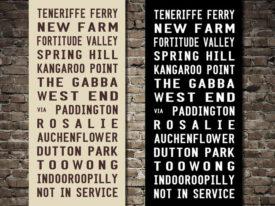 Teneriffe Ferry Custom Bus Scrolls