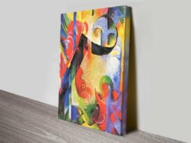 Broken Forms by Franz Marc Expressionist Abstract Ready to Hang Art