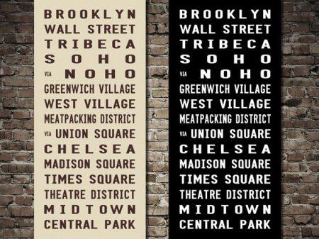 Brooklyn Subway Sign Destination Canvas