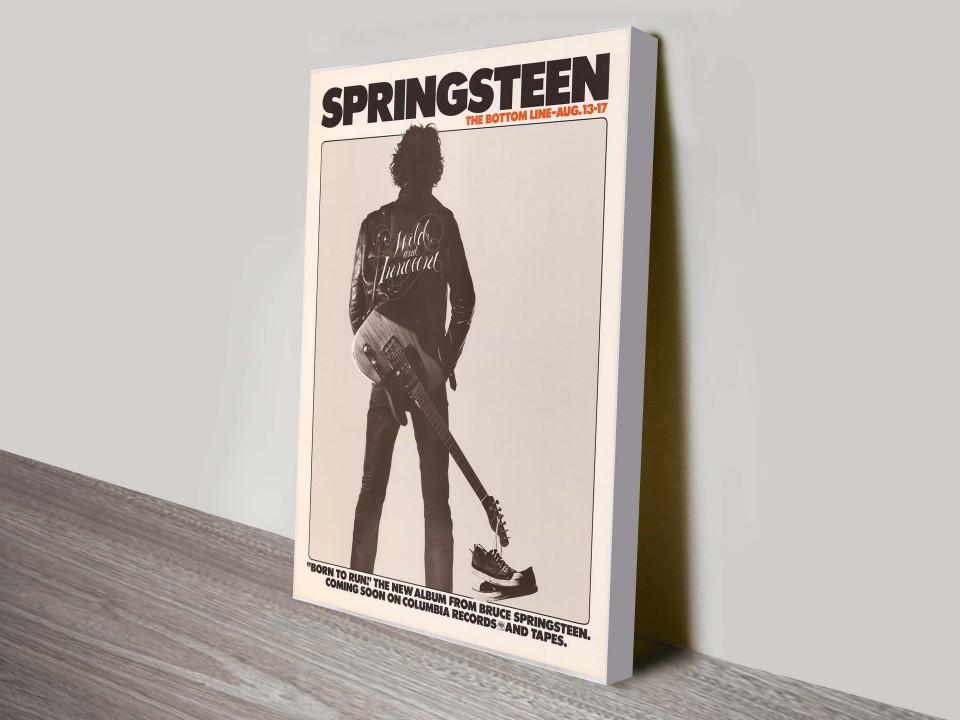 CANVAS Bruce Springsteen Art print POSTER