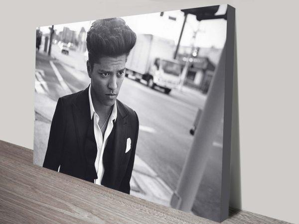 Bruno Mars pop art on canvas