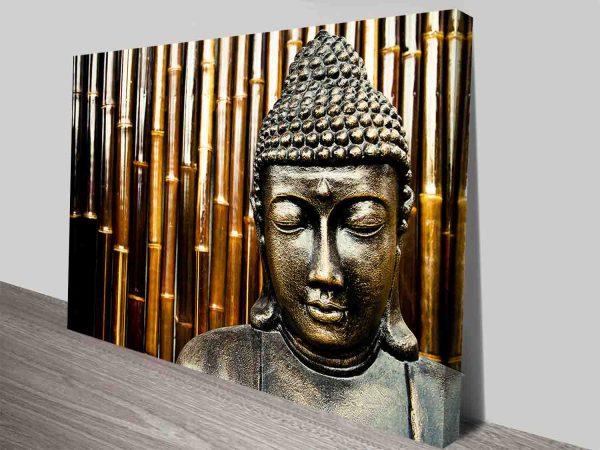 Bronze Buddha Statue Zen Ready to Hang Canvas Wall Art Australia