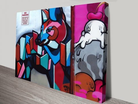 Buffmonster Graffiti on Canvas