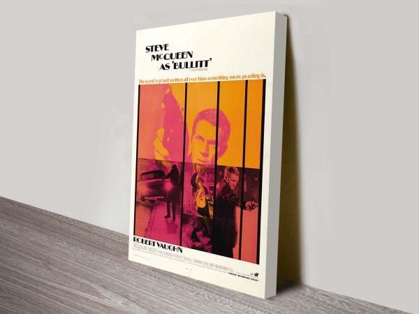 Bullitt Movie Poster Canvas Print