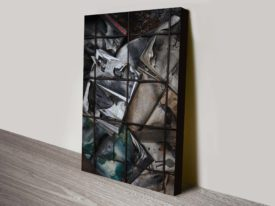 Burning Books Art Canvas Wall Art