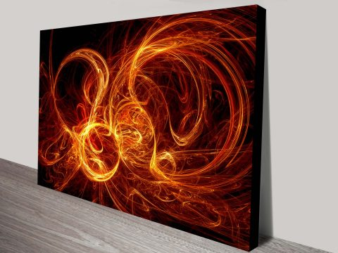 Burning Night Canvas Wall Art