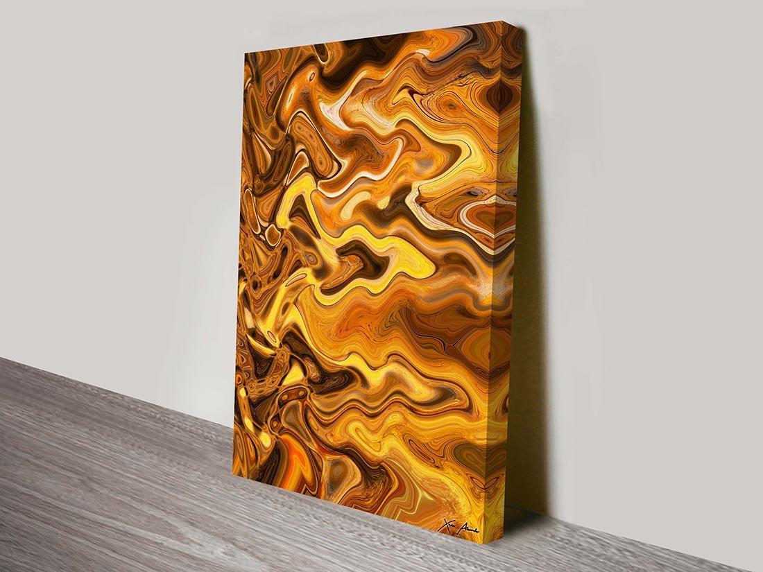 Burnt Composition III Canvas Print