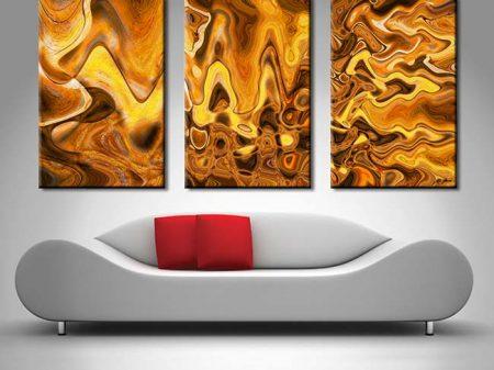Burnt Composition Triptych Xavier Alexander
