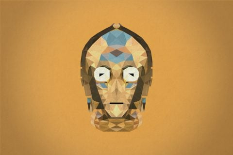 C-3PO Geometric Wall Art Picture Print on Canvas