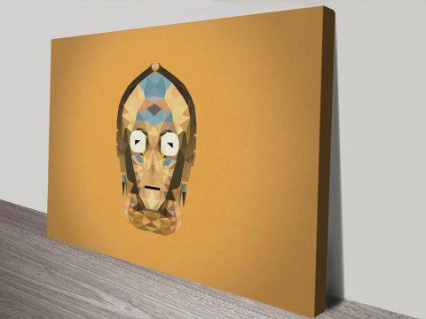 C-3PO Geometric Wall Art Picture Print