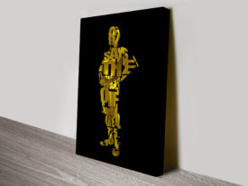 C3Po Typographic Star Wars Art