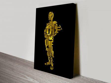 C3Po Typographic Star Wars Art