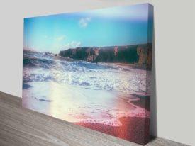 california ocean dreaming canvas wall art print