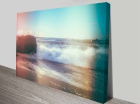 california sunshine waves canvas print elena kulikova