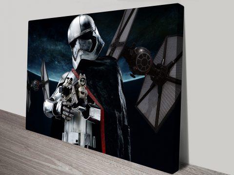 Captain Phasma Star Wars Art Canvas Print