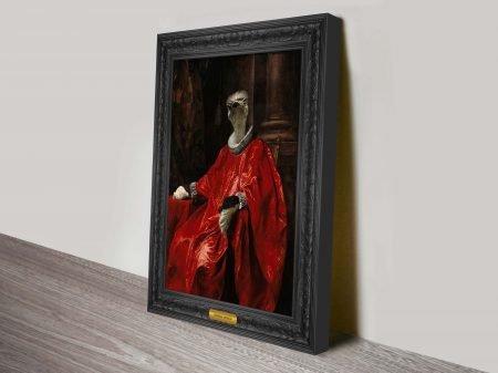 Markus Pilgrim Urban Art | Cardinal Ostrich Animal Aristocracy