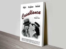 Casablanca Movie Poster On Canvas