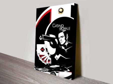Casino Royalle James Bond Wall Art