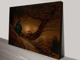 Moonwatchers By Caspar Friedrich Classical Art Print