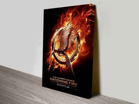 Catching Fire Movie Poster On Canvas