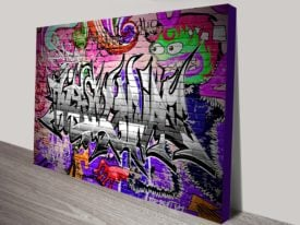 Caught Red Handed Graffiti Canvas Art