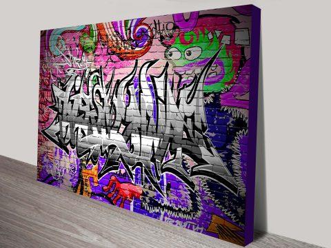 Caught Red Handed Graffiti Canvas Art