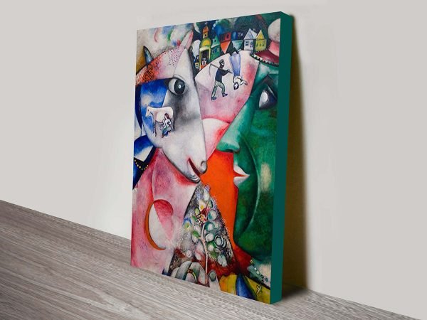 Chagall I And The Village Canvas