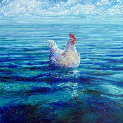 Chicken of the Sea Iris Scott Canvas Artwork