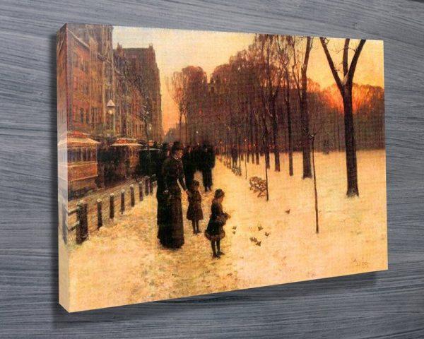 Boston in Everyday Twilight Classical Art Print