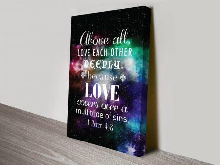 Buy Inspirational Bible Quote Framed Artwork