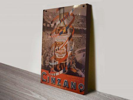 Cinzano Copa drinks poster Canvas Print