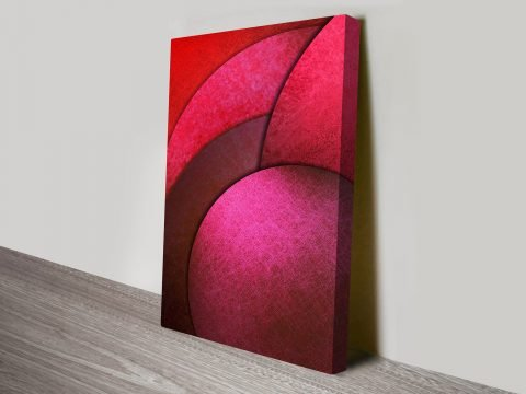 Circular Abstract Wall Art Print