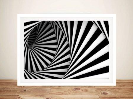 Circular Stairs Abstract Framed Wall Art