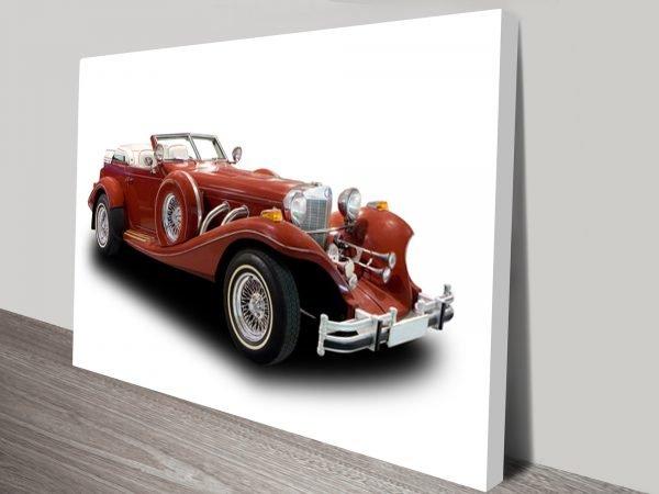 Classic Car Canvas Wall Art Australia