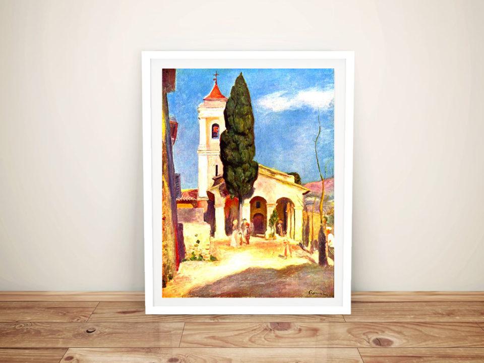 Renoir Church in Cagnes Framed Wall Art