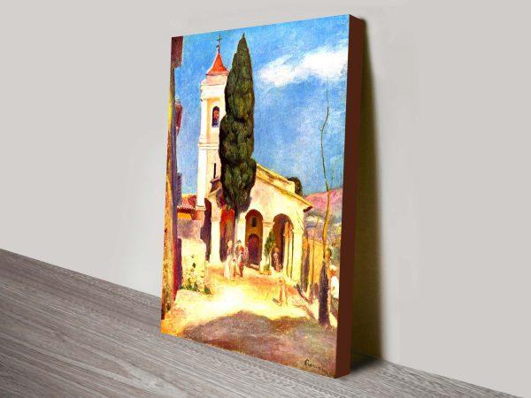 A Church at Cagnes, Renoir Classical Art Print