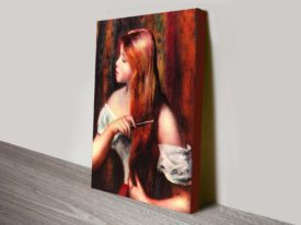 Young Girl Combing Her Hair Renoir Classical Wall Art On Canvas