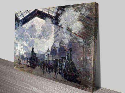 Claude Monet The Gare St Lazare Canvas Print