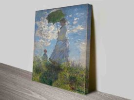 Woman with a Parasol Madame Monet Canvas Print