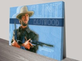Clint Eastwood Pop Art Canvas Print Sydney