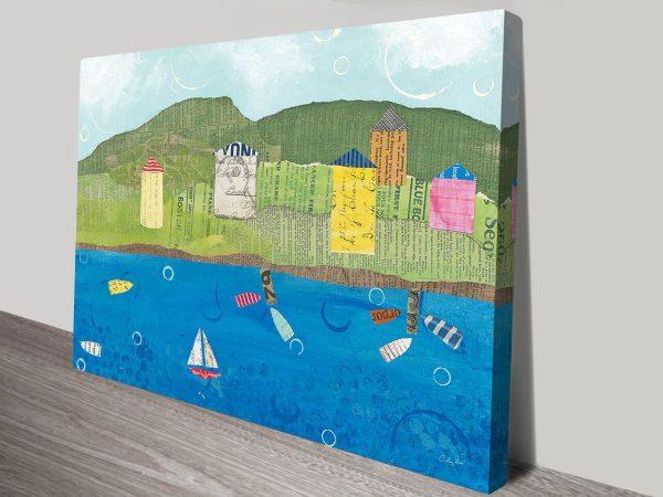 Coastal Harbor II Canvas Art