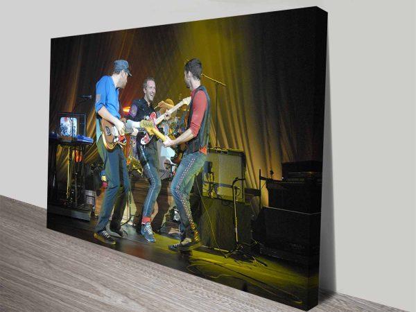 Coldplay Performing at Nissan Live Sets Rock Band Wall Art